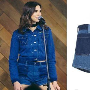 ▪️Wrangler X Peter Max▪️pin up Jean shorts